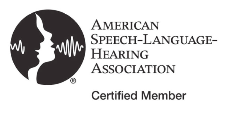 American Speech-Language Hearing Association Certified Member, ASHA logo